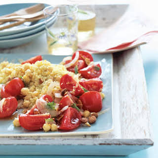 Minty Chickpea Salad with Couscous.