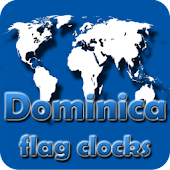 Dominica flag clocks