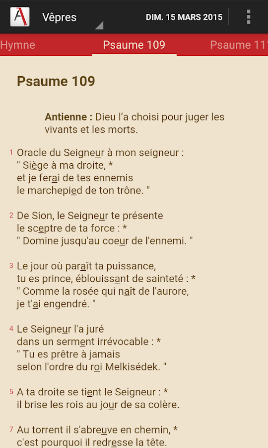 Aelf lectures du jour android apps on google play - Aelf liturgie des heures office des laudes ...