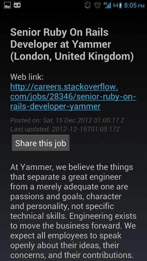 Stack Careers - screenshot