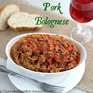 Pork Bolognese Spaghetti.