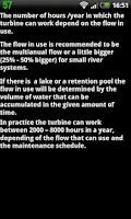 Screenshot of Hydropower calculator