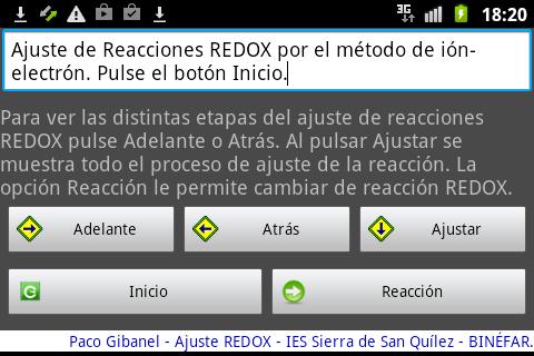 Ajuste RedOx Ion - electrón