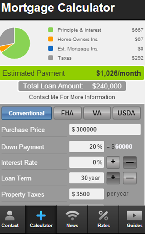 Lynn Posselt's Mortgage Mapp - screenshot