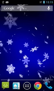 Snowflake 3D Live Wallpaper - screenshot thumbnail