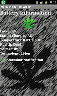 Marijuana Battery Widget- screenshot thumbnail