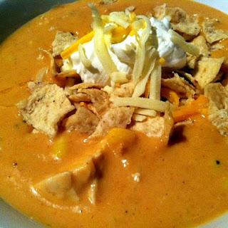 Chili's Chicken Enchilada Soup...in the Crock Pot!.