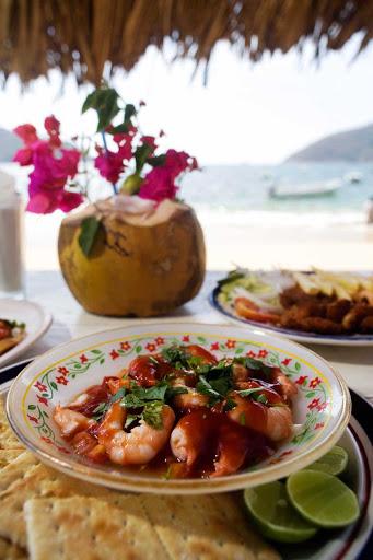 Acapulco-palapa-dining - Palapa dining in Acapulco.