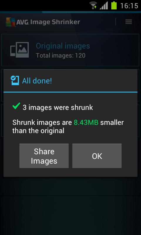 AVG Image Shrink & Share - screenshot
