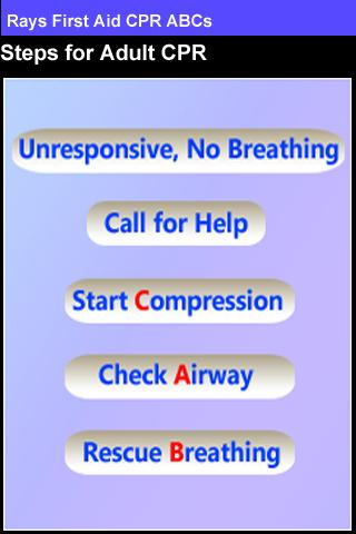 Rays First Aid CPR ABCs - screenshot