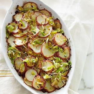 Potato Gratin with Leeks and Thyme.
