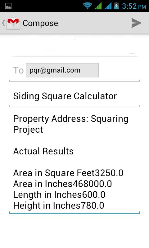 Siding Square Calculator Android Apps On Google Play