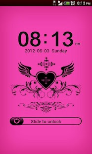 GO Locker Black-Pink Theme - screenshot thumbnail