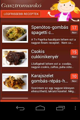 Gasztromankó mobil receptek
