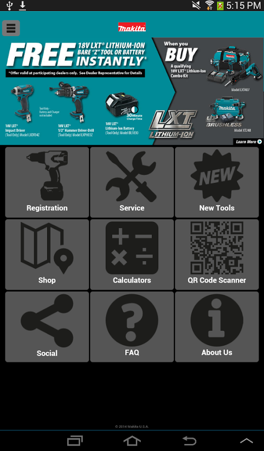 Makita Mobile - screenshot