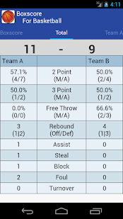 Boxscore For Basketball- screenshot thumbnail