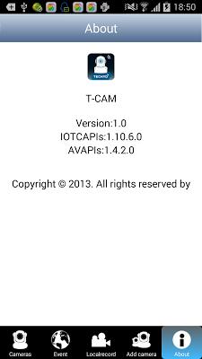T-CAM - screenshot