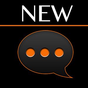 GO SMS Black Orange Theme