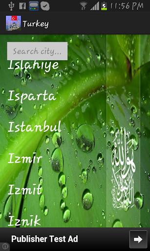 Turkey Prayer Timings -Islamic