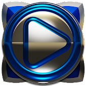 Poweramp skin Blue Deluxe