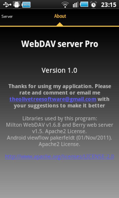 WebDAV Server- screenshot