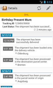 Deliveries Package Tracker - screenshot thumbnail