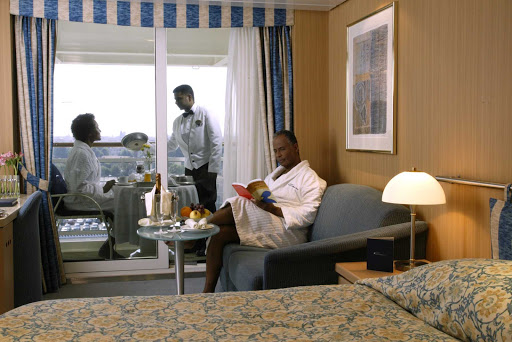 Celebrity_Millennium_Stateroom_Breakfast - Dining service on Celebrity Millennium allows you to enjoy your breakfast in the privacy and comfort of your suite.