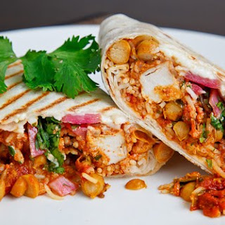 Butter Chicken Burritos