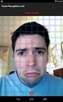 Screenshot of Facial Recognition Lock Prank