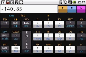 Screenshot of Financial RPN calculator