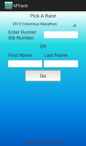 mTrack Marathon Race Tracker