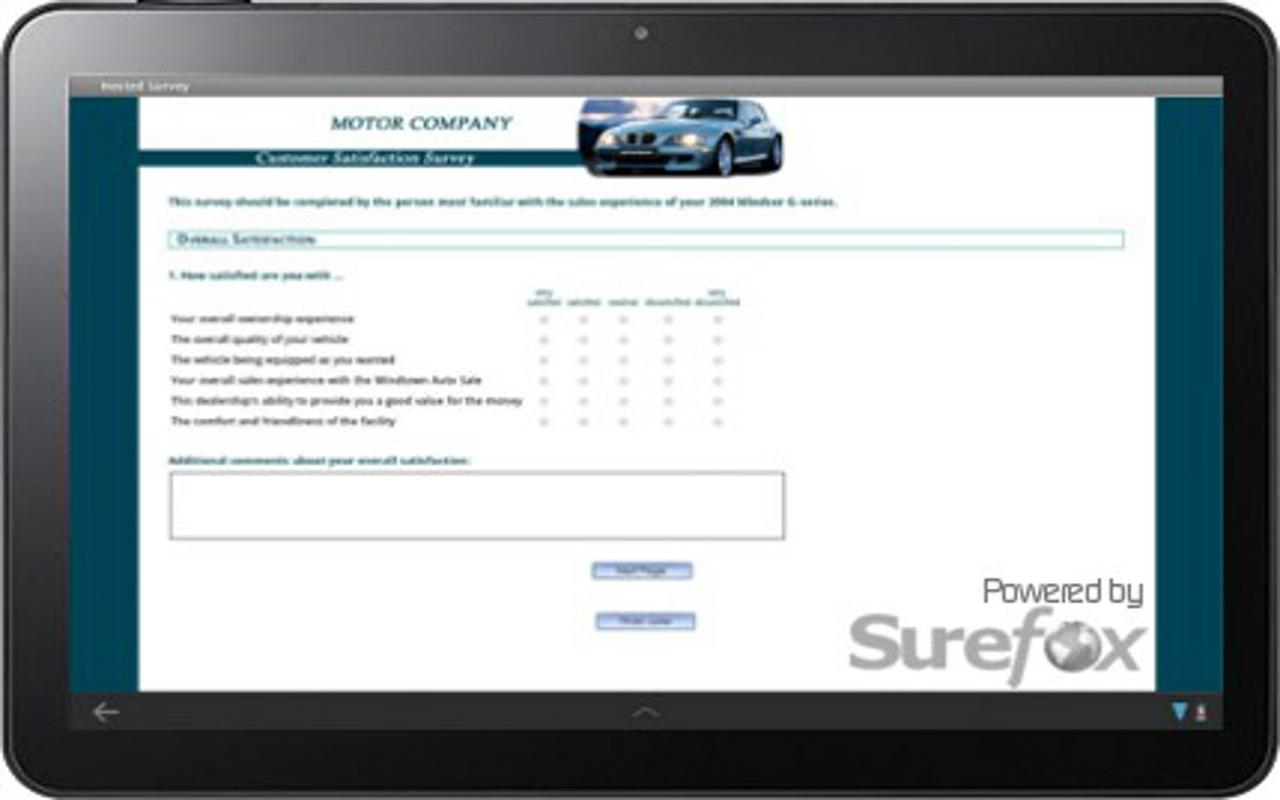 SureFox Kiosk Browser - screenshot