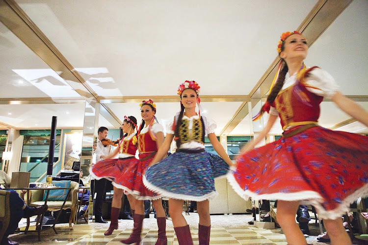 Guests will be entertained throughout their cruise aboard Uniworld's River Countess, often with local performers.