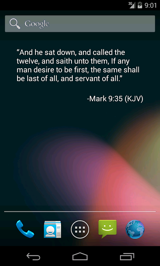 Bible Verse of the Day Widget- screenshot