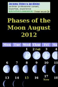 Calendrier phases de la lune screenshot 0