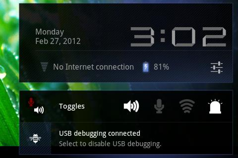 Toggles (LED flashlight etc) - screenshot