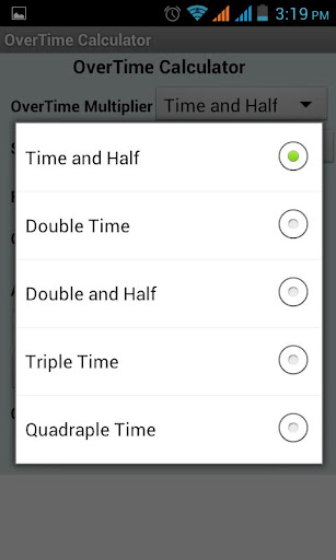 Over time Calculator
