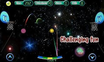Screenshot of Cosmic Basketball FREE