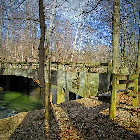Bridge in Indiana  by Samantha Walls - Buildings & Architecture Bridges & Suspended Structures