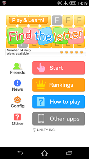 Find the letter Play Learn