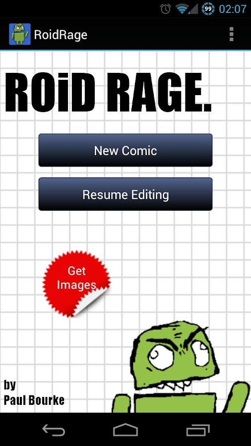 RoidRage Comic Maker - screenshot