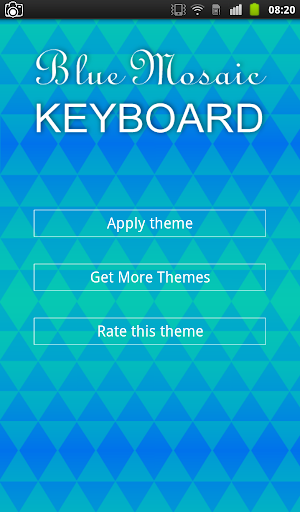 Blue Mosaic Keyboard