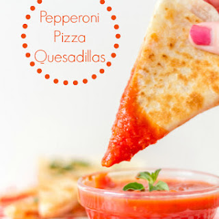 Pepperoni Pizza Quesadillas #15MinuteSuppers Recipe