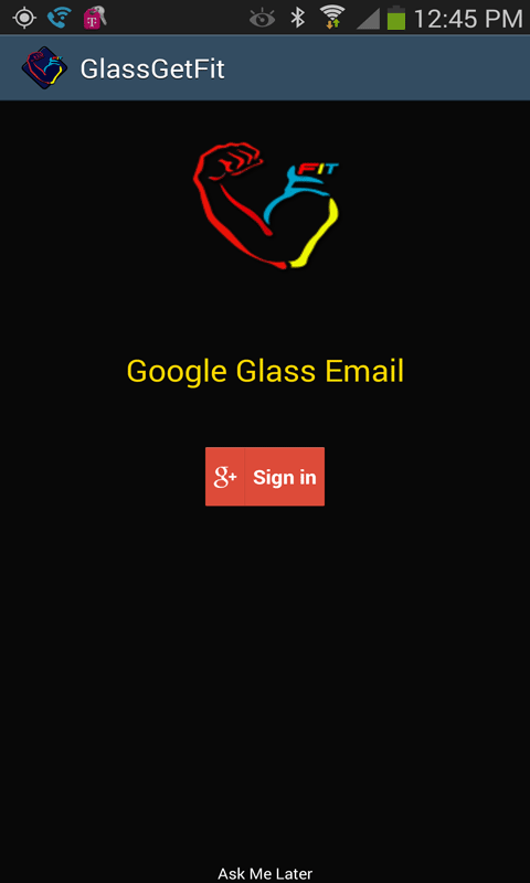 GetFit Pro For Glass - screenshot