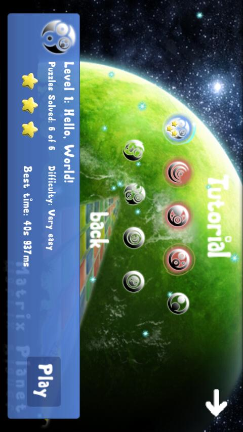 Matrix Planet Lite - screenshot