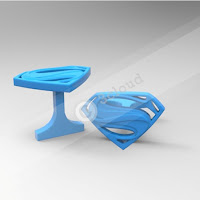 Cufflink with Superman Logo