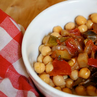 Ratatouille and Chickpeas