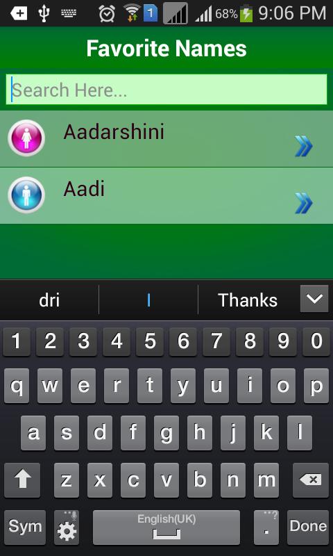Malayalam Baby Names Meaning Screenshot