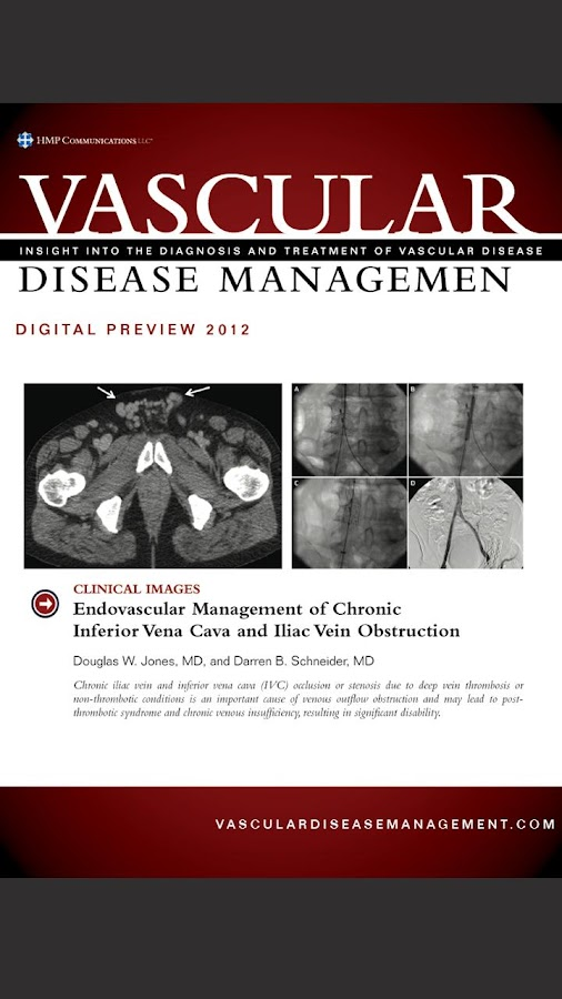 Vascular Disease Management - screenshot