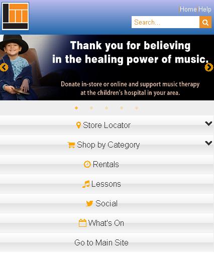 Long & McQuade Mobile- screenshot